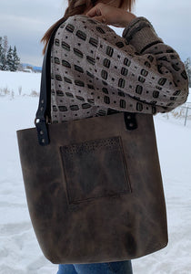 Gray full size tote