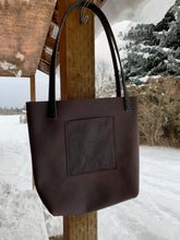 Load image into Gallery viewer, Brown small tote bag