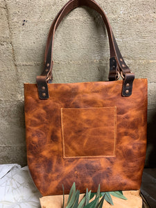 Copper rustic full sized tote