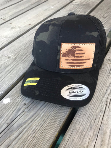 Distressed American Flag Patch hat