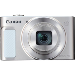 Canon PowerShot SX620 HS 20.2 Megapixel Compact Camera - Silver - 3 LC