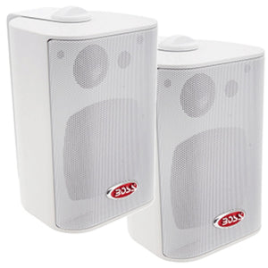 Boss Audio MR4.3W 4 3-Way Marine Enclosed System Box Speakers - 200W -