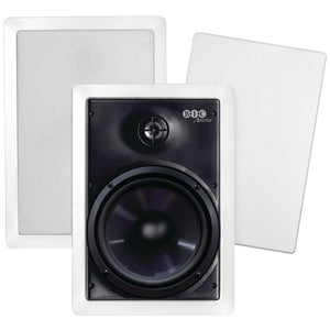 "Bic America 6.5"" Weather-resistant In-wall Speakers BICMPRO6W"