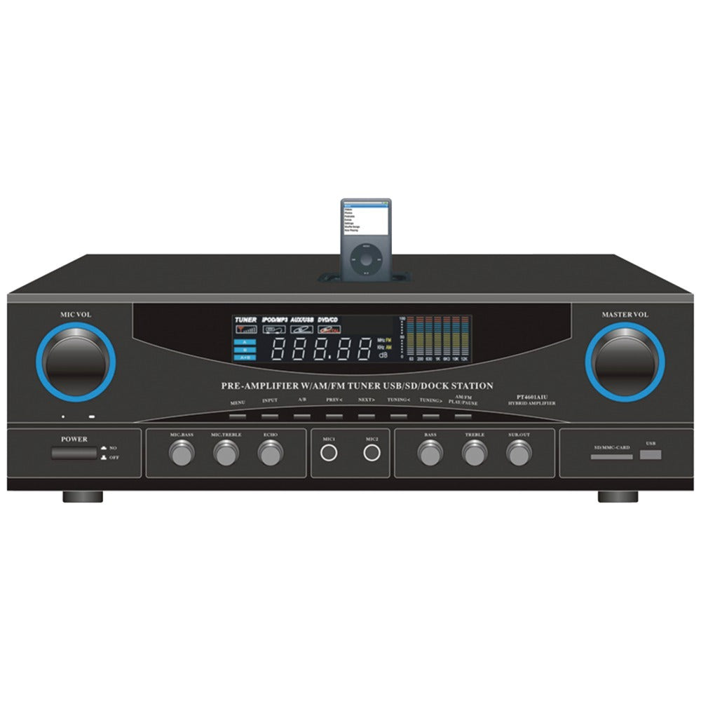 Pyle Home 500-watt Stereo Receiver With Ipod Dock PYLPT4601AIU