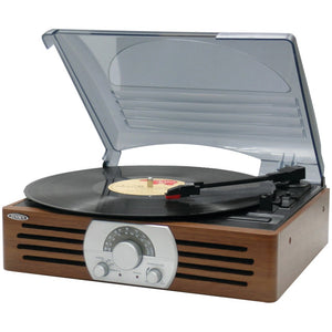 Jensen 3-speed Stereo Turntable With Am And Fm Stereo Radio JENJTA222