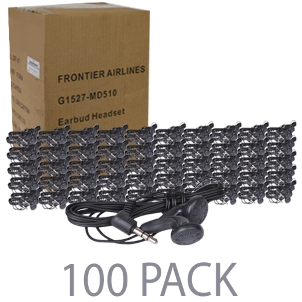 (100-Pack) 46 Stereo Earbuds w/3.5mm Plug (Black)