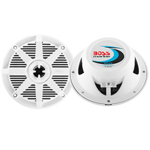 Boss Audio MR52W 5.25 2-Way 150W Marine Speaker - White - Pair