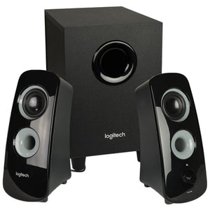 Logitech Z323 3-Piece 2.1 Channel Multimedia Speaker System (Black)