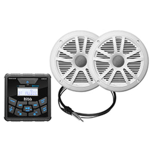 Boss Audio MCKGB450W.6 Marine Package - Bluetooth®In-Dash Marine G