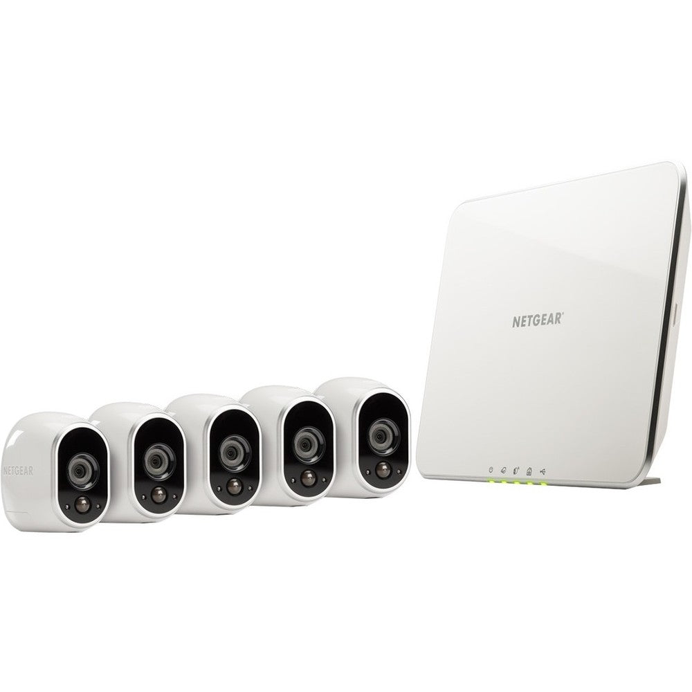 Arlo Smart Security System with 5 Arlo Cameras (VMS3530) - Camera, Bas