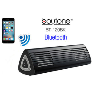 Boytone BT-120BK Ultra-Portable Wireless Bluetooth Speaker - Stealth B