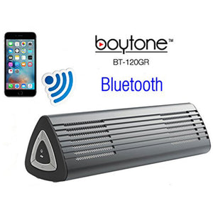 Boytone BT-120GR Ultra-Portable Wireless Bluetooth Speaker - Gunmetal