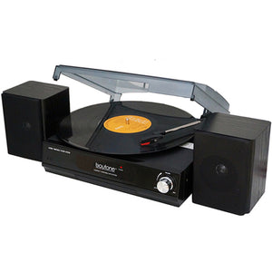 Boytone BT-14TBB-SP 3 Speed Stereo 33/45/78 RPM Turntable with 2 detac