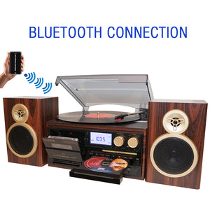 Boytone BT-28SPM, Bluetooth Classic Style Record Player Turntable with