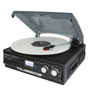 Boytone BT-37B-C Bluetooth 3-Speed Stereo Turntable, Wireless Connect