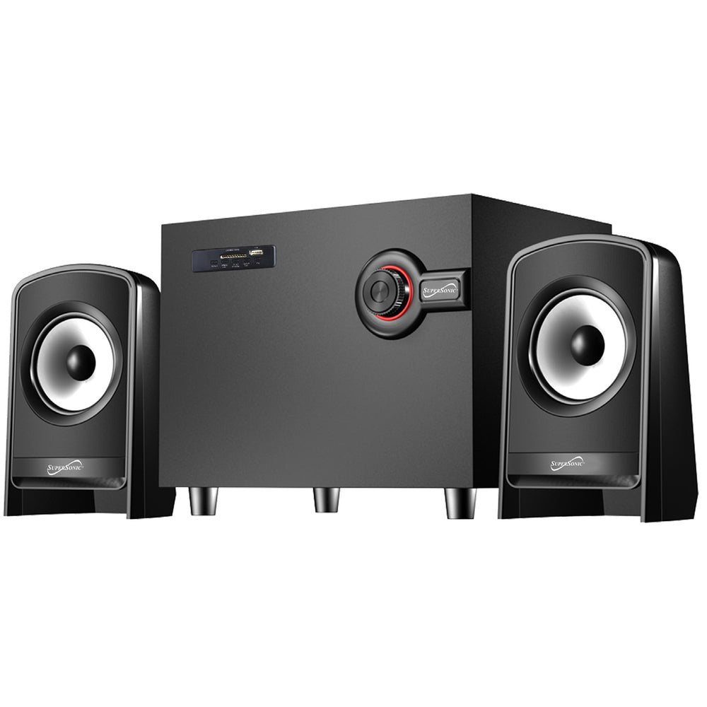 Supersonic Bluetooth Multimedia Speaker System in Black