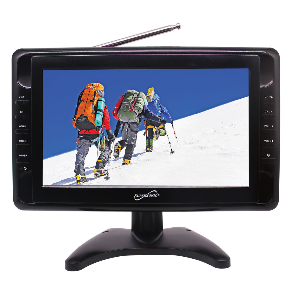 Supersonic 10 in. Portable LCD Television with Built-in Digital TV Tuner
