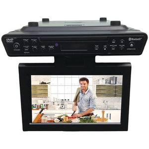 "SYLVANIA SKCR2706BT-B 10.2"" Under-Counter Bluetooth Kitchen TV with Built-in DVD Player and HDMI"