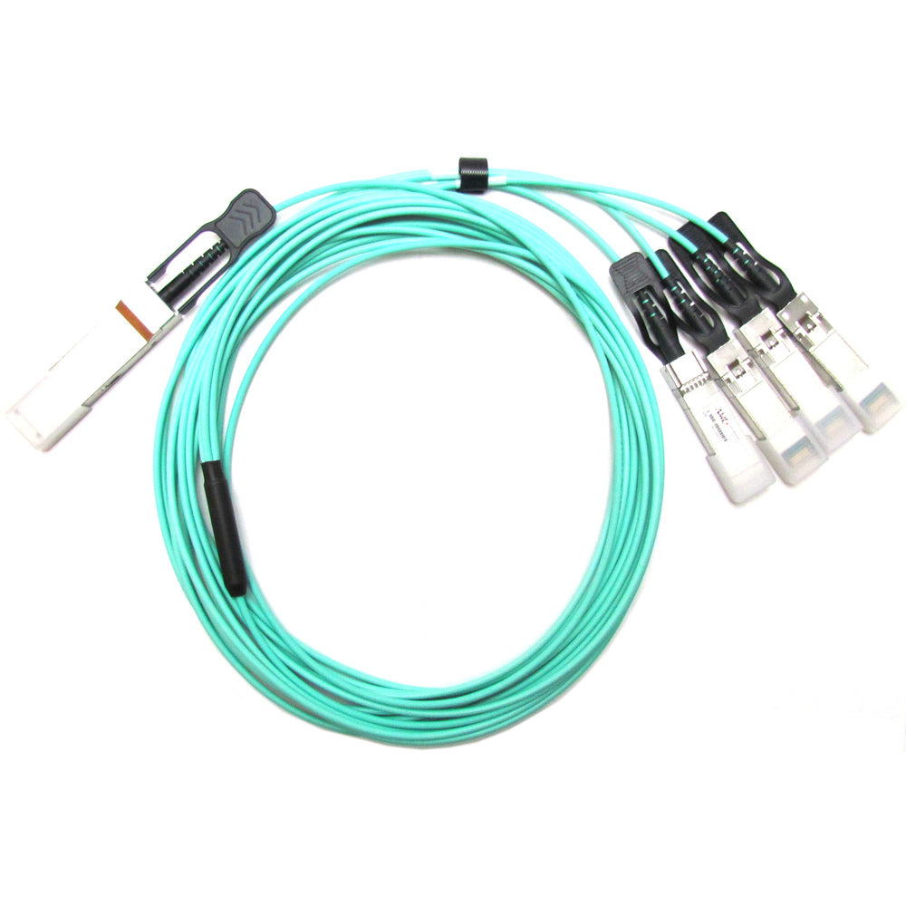 AMC AOC-QSFP-4XSFP10G-3M-AMC Active Optical Cable (AOC) - For QSFP+ to SFP+ Applications