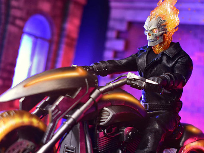 Mezco One:12 Collective Marvel Ghost Rider & Hell Cycle Set Pre-Order*