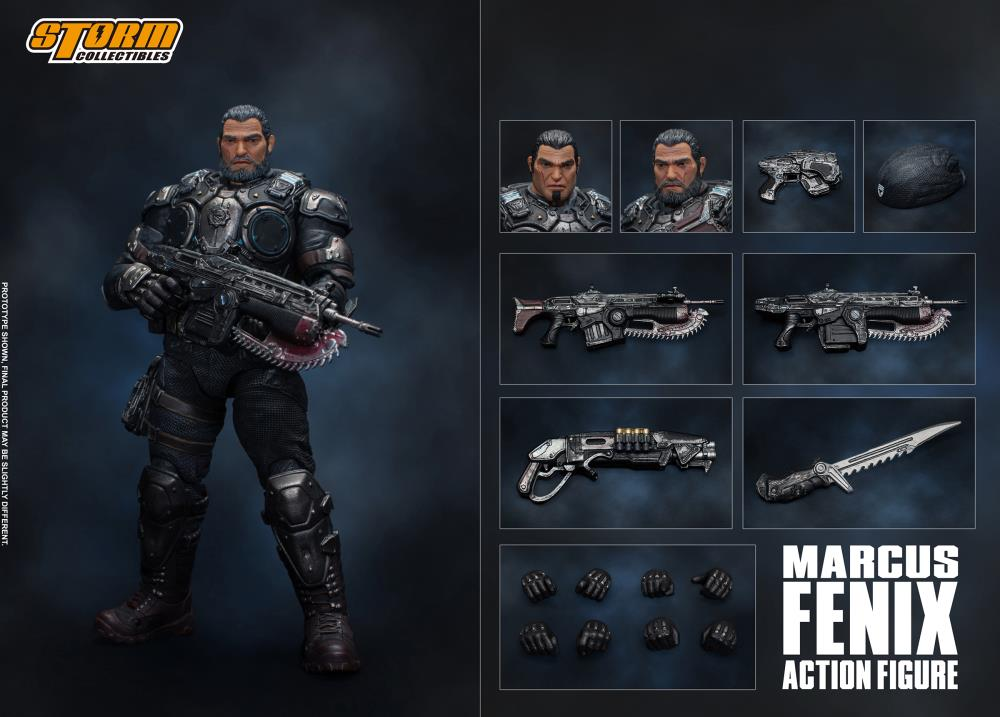 Storm Collectibles Gears of War Marcus Fenix 1/12 Scale Figure