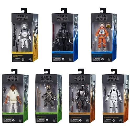 STAR WARS RETRO COLLECTION SEALED CASE WAVE 1 COMPLETE SET OF 6 UNOPENED HASBRO