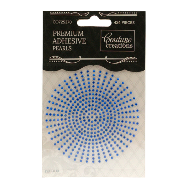 Adhesive Pearls - Deep Blue (2mm- 424pc)