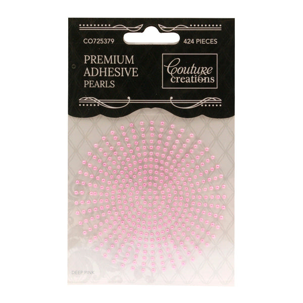 Adhesive Pearls - Deep Pink (2mm- 424pc)