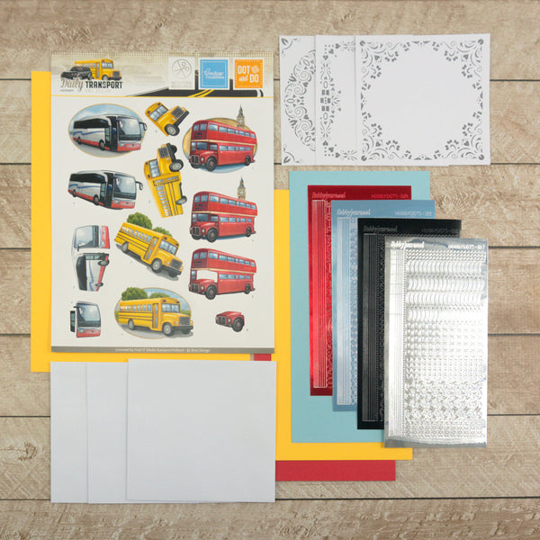3D Diecut Decoupage Set - Amy Spring - Its a Mans World - Buses