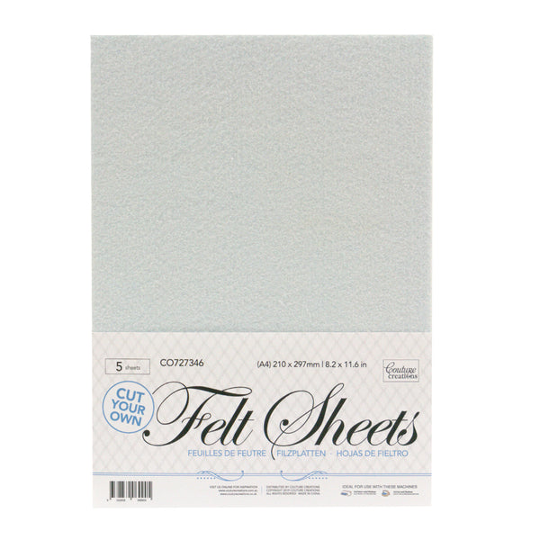A4 Felt sheets (cut your own) 5 sheet pack
