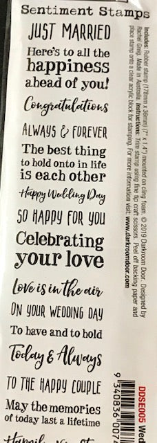 Darkroom Door-Sentiments Stamps-Wedding