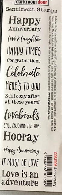 Darkroom Door Sentiments Stamps-Anniversary