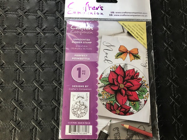 Crafters Companion Unmounted Stamp-Perfect Pointsettia