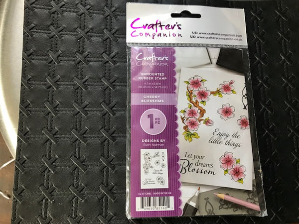 Crafters Companion Unmounted Stamp -Cherry Blossoms