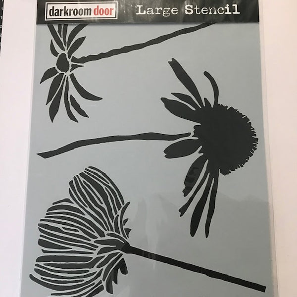 Darkroom Door Large Stencil -Carved Flowers