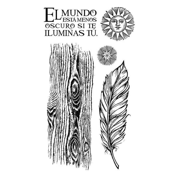 Stamperia - Rubber Stamp 10x16cm -5 - Cosmos feather