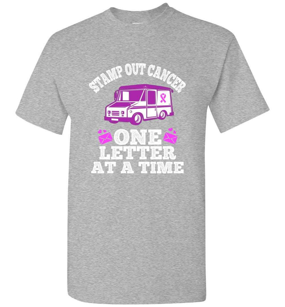 Postal Worker Tees Breast Cancer Unisex T-Shirt / Sports Grey / S Stamp out Breast Cancer One letter at a time