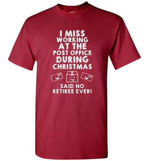 Postal Worker Tees Christmas Unisex T-Shirt / Cardinal / S Christmas - Do postal retirees miss Christmas at the Post office?
