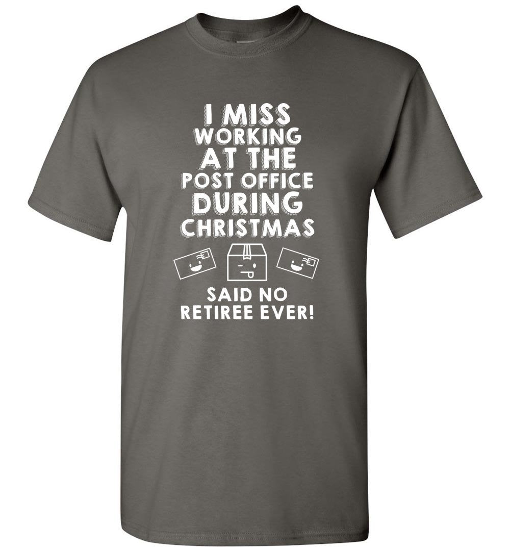 Postal Worker Tees Christmas Unisex T-Shirt / Charcoal / S Christmas - Do postal retirees miss Christmas at the Post office?