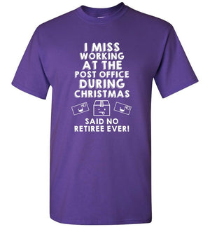 Postal Worker Tees Christmas Unisex T-Shirt / Purple / S Christmas - Do postal retirees miss Christmas at the Post office?