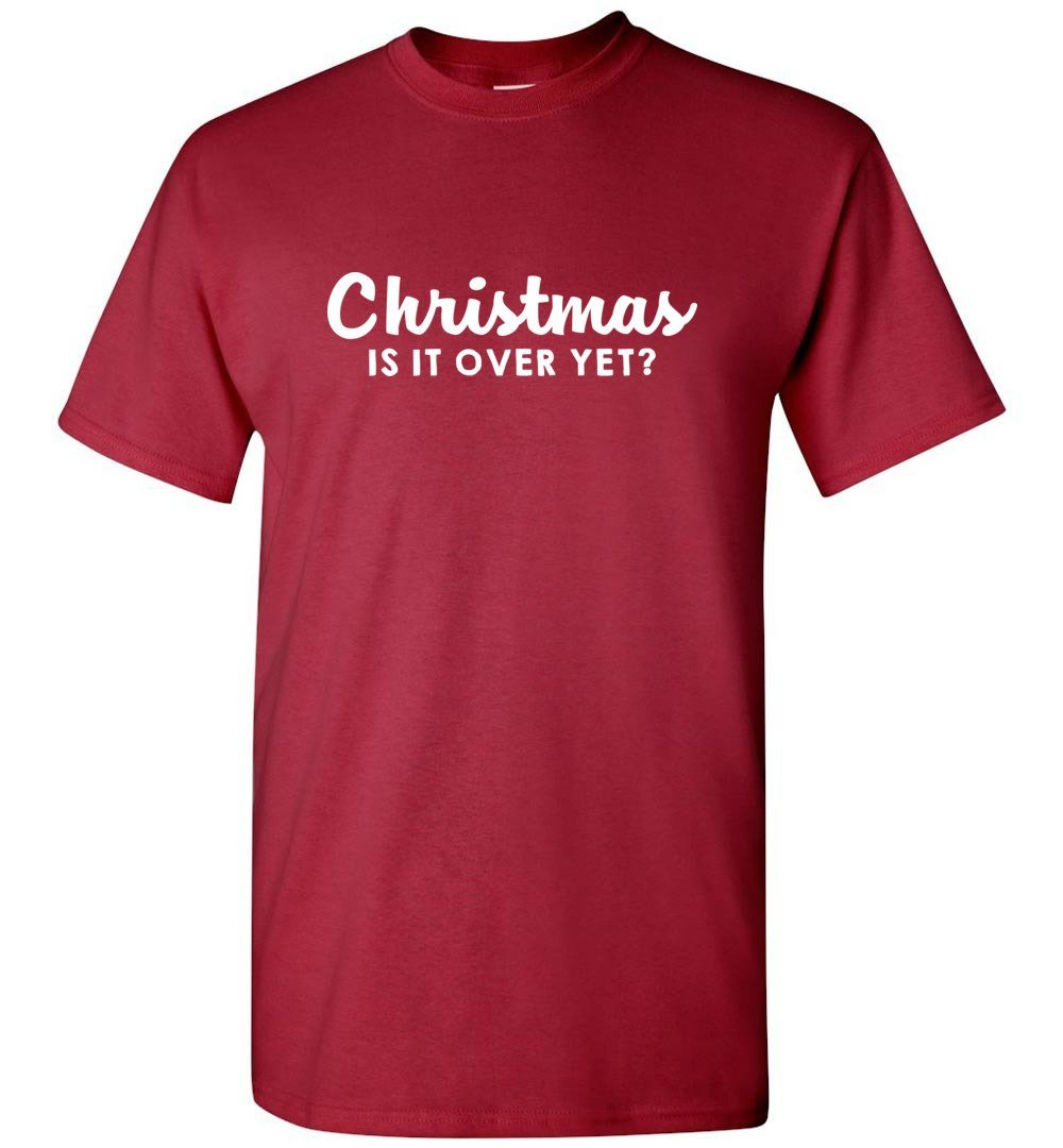 Postal Worker Tees Christmas Unisex T-Shirt / Cardinal / S Christmas - Is it over yet?