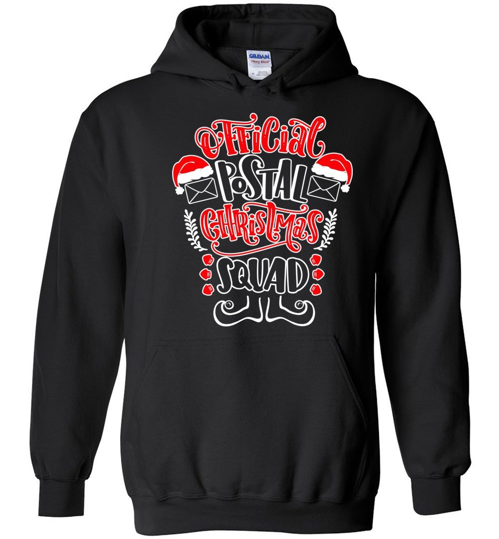 Postal Worker Tees Christmas Hoodie / Black / S Christmas - Official Postal Christmas Squad