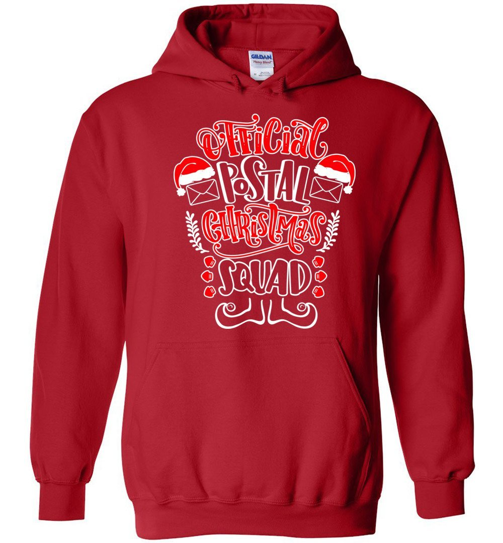 Postal Worker Tees Christmas Hoodie / Red / S Christmas - Official Postal Christmas Squad