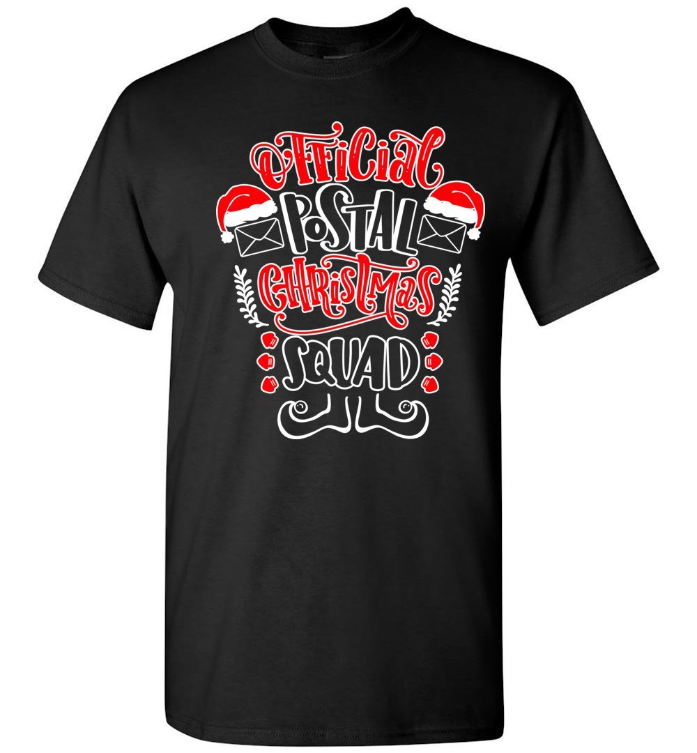 Postal Worker Tees Christmas Unisex T-Shirt / Black / S Christmas - Official Postal Christmas Squad