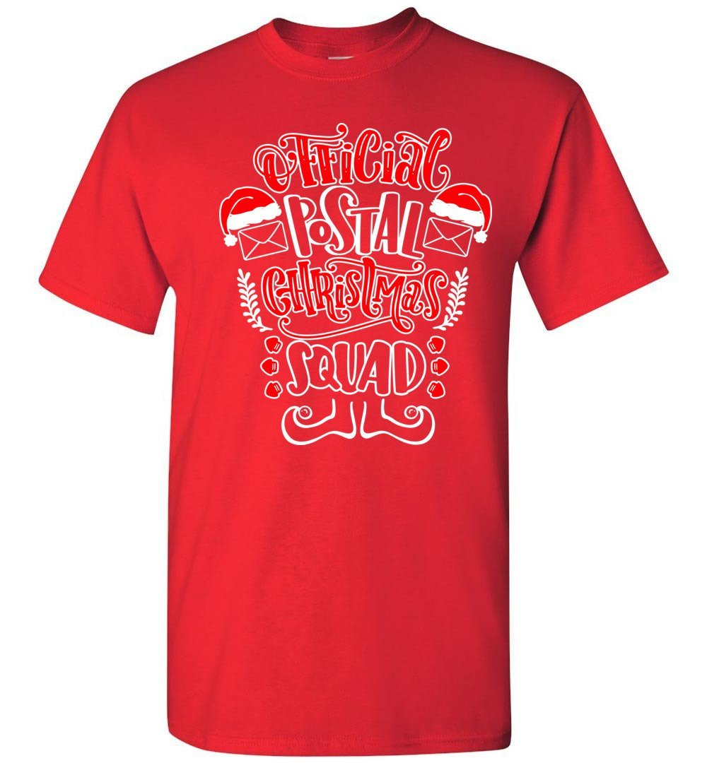 Postal Worker Tees Christmas Unisex T-Shirt / Red / S Christmas - Official Postal Christmas Squad