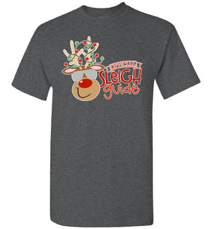 Postal Worker Tees Christmas Unisex T-Shirt / Dark Heather / S Christmas - Official Sleigh Guide