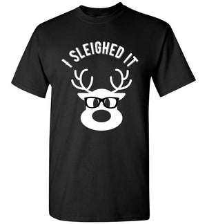 Postal Worker Tees Christmas Unisex T-Shirt / Black / S Christmas - Reindeer I sleighed it
