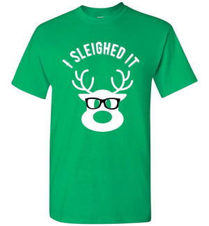 Postal Worker Tees Christmas Unisex T-Shirt / Irish Green / S Christmas - Reindeer I sleighed it