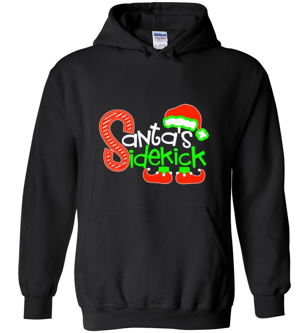 Postal Worker Tees Christmas Hoodie / Black / S Christmas - Santa's Sidekick