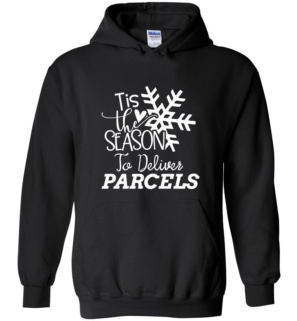 Postal Worker Tees Christmas Hoodie / Black / S Christmas - Tis the Season to deliver parcels